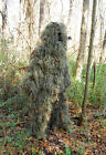 BULLS-EYE 4pc GHILLIE SUIT WOODLAND CAMO HUNTING TACTICAL SNIPER PAINTBALL