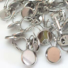 20/50pcs Chrome Tone Round Cabochon Setting Earring Wires (Fit 12mm)  J1864