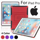 Heavy Duty Armor Kickstand Shockproof Hybrid Hard Rubber Cover Case For iPad Pro