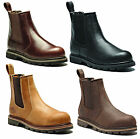 Dickies Fife Safety Dealer Mens Leather Steel Toe Cap Slip On Work Boots UK6-12