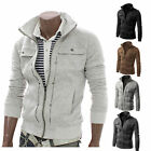 New Men Fashion Trench Coat Double Breasted Peacoat Long Jacket Winter Warm Tops