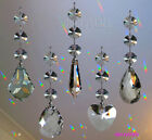 Hanging Crystal Suncatcher Rainbow Prism Wind chime Mobile Swarovski Octagons
