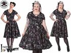 HELL BUNNY Kalonice ~ Psychobilly Pinup Beauty Queen Diner Dress ~ Plus Size 50s