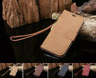 Retro Leather Skin Wallet Cover Case For Samsung Galaxy S6 edge Note 5 Skin