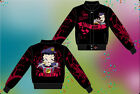 Betty Boop Ladies Jacket Queen of the Road Betty Biker Jacket NEW Black Red $89.99 USD
