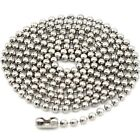 70cm Adjustable Stainless Steel Chain Necklace Pendant Ball Bead Bamboo Link