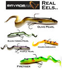 Savage Gear READY TO FISH ** REAL EELS **   Predator & Pike Fishing Soft Lures