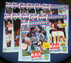 WEST HAM UNITED HOME PROGRAMMES 1989-1990