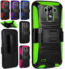 At&t LG G Vista 2 COMBO Holster with Hard HYBRID KICK STAND Rubber Phone Case