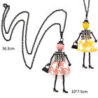 1 Pc Alloy Fabric Doll Girl Pendant Necklace Women Fashion Jewelry Sweater Chain