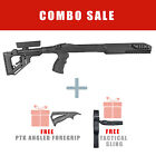 Fab Defense FIXED Stock for Ruger 10/22 w/ Free Angled Handle UAS R10/22 PTK