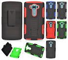 For LG V10 COMBO Belt Clip Holster Case Phone Cover Kick Stand + Screen Guard
