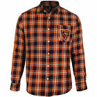 Men's Chicago Bears Wordmark Flannel Button Down Long Sleeve Shirt PICK SIZE on eBay