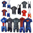 Hombres Marvel superhéroes Iron Man larga Ciclismo Jersey+Pants Bib Short Sets