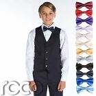 Boys Navy Suit, Boys Waistcoat Suits, Page Boy Suit with Dickie Bow Tie