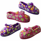 Ladies Soft Terry Velour Towelling Moccasin Pink Purple Spotty Full Slippers