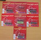5 Push In Spare Bulbs for Fariy Lights 7v 0.98w 0.14a 7 Colours Available