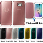 Mirror Smart Clear View Flip Hard Back Case Cover For Samsung Galaxy S6 Edge New