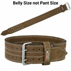 """Weight Lifting Belts 4"""" Leather Gym Training Fitness Back Support Power Belt MRX"""