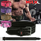 MRX Leather Power Weight Lifting Belt Training Exercise Gym Fitness Back Support