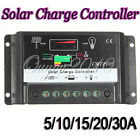 5/10/15/20/30A Solar Panel Battery Regulator Charge Controller AutoSwitch 12-24V
