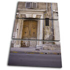 Rome Door Old City TREBLE CANVAS WALL ART Picture Print