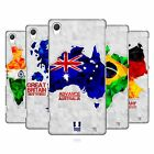 HEAD CASE DESIGNS GEOMETRIC MAPS HARD BACK CASE FOR SONY PHONES 2