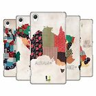 HEAD CASE DESIGNS PATTERNED MAPS HARD BACK CASE FOR SONY PHONES 2