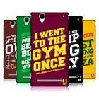 HEAD CASE DESIGNS FUNNY WORKOUT STATEMENTS HARD BACK CASE FOR SONY PHONES 3