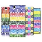 HEAD CASE DESIGNS SCRIBBLE PATTERNS HARD BACK CASE FOR SONY PHONES 3