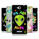 HEAD CASE DESIGNS ALIEN EMOJI SOFT GEL CASE FOR SONY PHONES 3