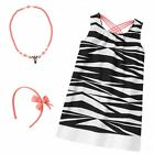 Gymboree Animal Party 3 pc Zebra Dress,Headband & Necklace NWT 5 6 8