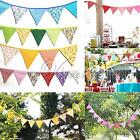 12 Flags Linen Cotton Banners Hessian Bunting Wedding Party Favor Photo Props