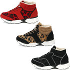 New Casual Fashion Athletic Winter Warm Lace Up High Top Womens Shoes