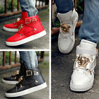 New Fashion Men's Casual Korean Leather Martin High Hip-hop Ankle Boots shoes