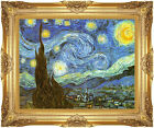 Vincent van Gogh The Starry Night Framed Canvas Giclee Art Print Painting Repro