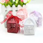 50Pcs Wholesale Love Heart White Candy Boxes Wedding Favor Party Gift Boxes New