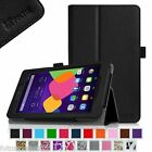 Alcatel OneTouch Pixi 7 T-Mobile / Sprint Case Leather Cover with Stylus Holder
