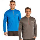 Regatta Mens Long Sleeve T-Shirt Froswick 1/4 zip Quick Dry Wick Away Sweat New