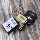 Black/Gold/White Religious Mini Cover Holy Bible Keyring Key Chain Pendant Gifts