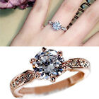 Fashion Crystal Zircon Jewelry Wedding Rings Gold Silver Plated Jewelry Rings TB