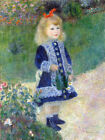 A Girl with a Watering Can Pierre Auguste Renoir Painting Reproduction Art Print