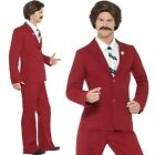 Mens Ron Burgundy Anchorman Fancy Dress Costume Legend Outfit by Smiffys New