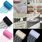 "6""x 25Yards Vintage Lace Roll Fabric Tutu Table Runner Chair Sash Wedding Decor"