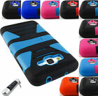FOR SAMSUNG GALAXY PHONES HYBRID CASE TOUGH DUAL LAYER STAND COVER+STYLUS