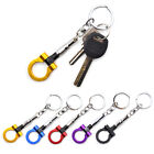 Metal Car Keychain Key Ring Auto Part Aluminum Racing Tow Towing Hook Universal