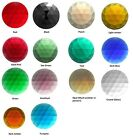 "FOUR Beautiful German-Made FACETED JEWELS 25mm 1"" Stained Glass Color Choice"
