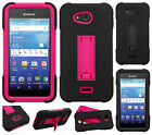 For Kyocera Hydro Air C6745 IMPACT Hard Rubber Case Phone Cover Kickstand