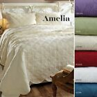 3 PC AMELIA Twin Queen California - King Bed in Bag Quilt Sets 6 Color Choices