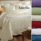 4 PC AMELIA Twin Queen California - King Bed in Bag Quilt Sets 6 Color Choices